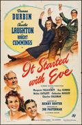 "Movie Posters:Comedy, It Started with Eve (Universal, 1941). Folded, Fine/Very Fine. OneSheet (27"" X 41""). Comedy.. ..."