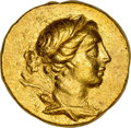 Ancients:Greek, Ancients: IONIA. Magnesia ad Meandrum. Ca. 155-145 BC. AV stater (18mm, 8.46 gm, 12h). NGC AU 5/5 - 3/5....