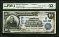 National Bank Notes:Wisconsin, Merrill, WI - $10 1902 Date Back Fr. 620 The Citizens NB Ch. # (M)10176 PMG About Uncirculated 53.. ...