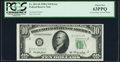 Error Notes:Obstruction Errors, Partially Obstructed Printing of Right Serial Number Error Fr. 2011-B $10 1950A Federal Reserve Note. PCGS Choice New 63PPQ....