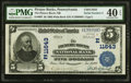 National Bank Notes:Pennsylvania, Picture Rocks, PA - $5 1902 Plain Back Fr. 607 The Picture Rocks NB Ch. # (E)11643 PMG Extremely Fine 40 EPQ.. ...