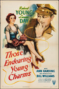 """Movie Posters:Comedy, Those Endearing Young Charms (RKO, 1945). Folded, Fine/Very Fine.One Sheet (27"""" X 41""""). Comedy.. ..."""