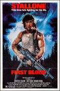 """Movie Posters:Action, First Blood (Orion, 1982). Folded, Very Fine-. One Sheet (27"""" X 41""""). Drew Struzan Artwork. Action.. ..."""