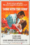 """Movie Posters:Academy Award Winners, Gone with the Wind (MGM, R-1970/R-1974). Folded, Fine/Very Fine. One Sheet (27"""" X 41"""") & Photos (6) (8"""" X 10"""") Howard Terpni... (Total: 7 Items)"""