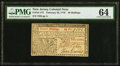 Colonial Notes:New Jersey, New Jersey February 20, 1776 30s PMG Choice Uncirculated 6...
