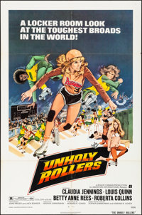 """Unholy Rollers (American International, 1972). Folded, Very Fine-. One Sheet (27"""" X 41""""). Bad Girl"""