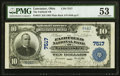 National Bank Notes:Ohio, Lancaster, OH - $10 1902 Plain Back Fr. 624 The Fairfield NB Ch. # 7517 PMG About Uncirculated 53.. ...