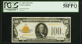 Small Size:Gold Certificates, Fr. 2405 $100 1928 Gold Certificate. PCGS Choice About New...