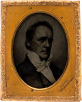Photography:Tintypes, James Buchanan: Superb 1856 Ninth Plate Campaign Ambrotype. ...