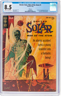 Doctor Solar, Man of the Atom #1 File Copy (Gold Key, 1962) CGC VF+ 8.5 Cream to off-white pages