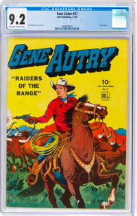 Four Color #57 Gene Autry (Dell, 1944) CGC NM- 9.2 Off-white to white pages