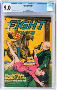 Fight Comics #45 (Fiction House, 1946) CGC VF/NM 9.0 Off-white to white pages