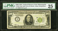 Small Size:Federal Reserve Notes, Fr. 2201-I $500 1934 Light Green Seal Federal Reserve Note. PMG Very Fine 25.. ...