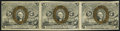 Fractional Currency:Second Issue, Fr. 1234 5¢ Second Issue Uncut Horizontal Strip of Three Extremely Fine-About New.. ...