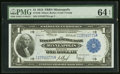 Fr. 736 $1 1918 Federal Reserve Bank Note PMG Choice Uncirculated 64 EPQ