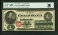 Large Size:Legal Tender Notes, Fr. 17a $1 1862 Legal Tender PMG Very Fine 30.. ...