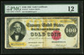 Large Size:Gold Certificates, Fr. 1214 $100 1882 Gold Certificate PMG Fine 12.. ...