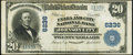 National Bank Notes:Tennessee, Johnson City, TN - $20 1902 Plain Back Fr. 661 The Unaka & CityNB Ch. # 6236 Fine-Very Fine.. ...