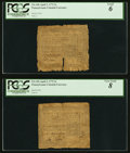 Colonial Notes:Pennsylvania, Pennsylvania April 3, 1772 2s Two Examples PCGS Graded Goo...