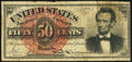 Fractional Currency:Fourth Issue, Fr. 1374 50¢ Fourth Issue Lincoln Fine.. ...