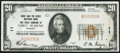 National Bank Notes:Indiana, Fort Wayne, IN - $20 1929 Ty. 1 First & Tri State NB & TC Ch. # 11 Very Fine.. ...