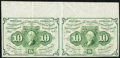 Fractional Currency:First Issue, Fr. 1242 10¢ First Issue Uncut Horizontal Pair Very Fine-Extremely Fine.. ...