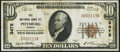 National Bank Notes:Kansas, Pittsburg, KS - $10 1929 Ty. 1 The NB of Pittsburg Ch. # 3475 VeryFine+.. ...