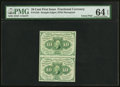 Fractional Currency:First Issue, Fr. 1242 10¢ First Issue Uncut Pair PMG Choice Uncirculated 64 EPQ.. ...