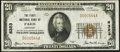 National Bank Notes:Kentucky, Paris, KY - $20 1929 Ty. 1 The First NB Ch. # 6323 Very Fine.. ...