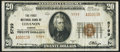 National Bank Notes:Kansas, Lebanon, KS - $20 1929 Ty. 2 The First NB Ch. # 5799 Very Fine.....