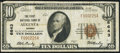 National Bank Notes:Kansas, Augusta, KS - $10 1929 Ty. 1 The First NB Ch. # 6643 Fine-Very Fine.. ...