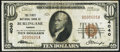 National Bank Notes:Kansas, Burlingame, KS - $10 1929 Ty. 1 The First NB Ch. # 4040 Very Fine.....