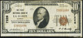 National Bank Notes:Kansas, La Harpe, KS - $10 1929 Ty. 1 The First NB Ch. # 7226 Very Fine.. ...
