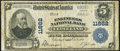 National Bank Notes:Ohio, Cleveland, OH - $5 1902 Plain Back Fr. 607 Engineers NB Ch. # 11862Fine.. ...