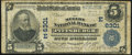 National Bank Notes:Pennsylvania, Pittsburgh, PA - $5 1902 Plain Back Fr. 598 The Mellon NB Ch. # (E)6301 Very Good.. ...
