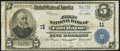 National Bank Notes:Indiana, Fort Wayne, IN - $5 1902 Plain Back Fr. 609 First NB Ch. # 11 Fine.. ...