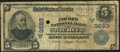 National Bank Notes:Kansas, Wichita, KS - $5 1902 Date Back Fr. 592 The Fourth NB Ch. # (W)3683 Very Good.. ...