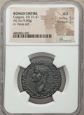 Ancients:Roman Imperial, Ancients: Gaius (Caligula) (AD 37-41). AE as (29mm, 9.80 gm, 6h).NGC AU 5/5 - 2/5....