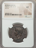 Ancients:Roman Imperial, Ancients: Tiberius (AD 14-37). AE as (29mm, 12h). NGC XF....