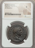Ancients:Roman Imperial, Ancients: Vespasian (AD 69-79). AE sestertius (33mm, 6h). NGCFine....