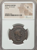 Ancients:Roman Imperial, Ancients: Nero (AD 54-68). AE as (28mm, 7h). NGC Fine....