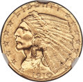 Indian Quarter Eagles, 1910 $2 1/2 MS65 NGC....