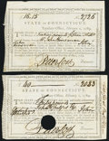 Connecticut Treasury Certificate £16.15s February 1, 1789 Anderson CT-26 VF; CC Connecticut Treasury Certificate &...