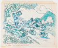 Animation Art:Production Drawing, Disney Stamp Collectors Safety and Health Book Preliminary...