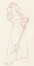 Animation Art:Production Drawing, Snow White and the Seven Dwarfs Snow White Animation Drawing(Walt Disney, 1937). ...
