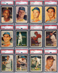 Baseball Cards:Sets, 1957 Topps Baseball Near Complete Set (403/407) with 287 PSA Graded Cards!...