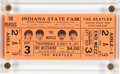 Music Memorabilia:Tickets, The Beatles Ticket Indiana State Fair Concert Ticket (1964). . ...