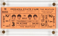 The Beatles Ticket Indiana State Fair Concert Ticket (1964)