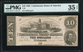 Confederate Notes:1862 Issues, T52 $10 1862 PF-1 Cr. 369 PMG Choice Very Fine 35 EPQ.. ...