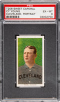 Baseball Cards:Singles (Pre-1930), 1909-11 T206 Sweet Caporal Cy Young (Portrait) PSA EX-MT 6. ...